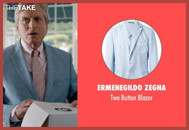 Ermenegildo Zegna blue blazer from And So It Goes seen with Michael Douglas (Oren Little)