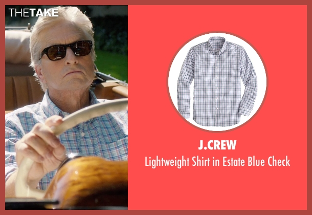 J.Crew blue check from And So It Goes seen with Michael Douglas (Oren Little)