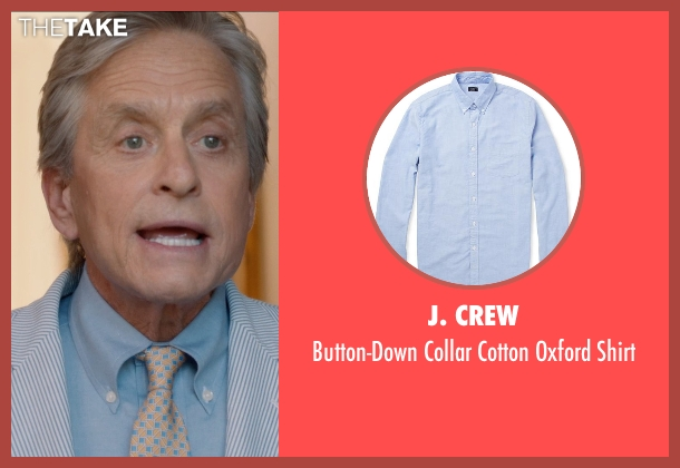 J. Crew blue shirt from And So It Goes seen with Michael Douglas (Oren Little)
