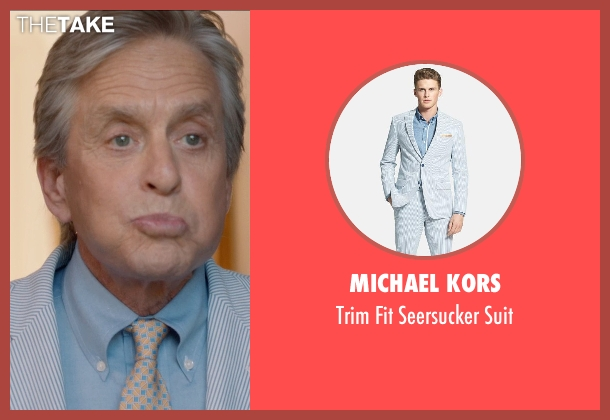 Michael Kors blue suit from And So It Goes seen with Michael Douglas (Oren Little)