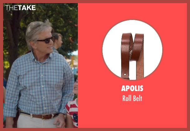 Apolis brown belt from And So It Goes seen with Michael Douglas (Oren Little)