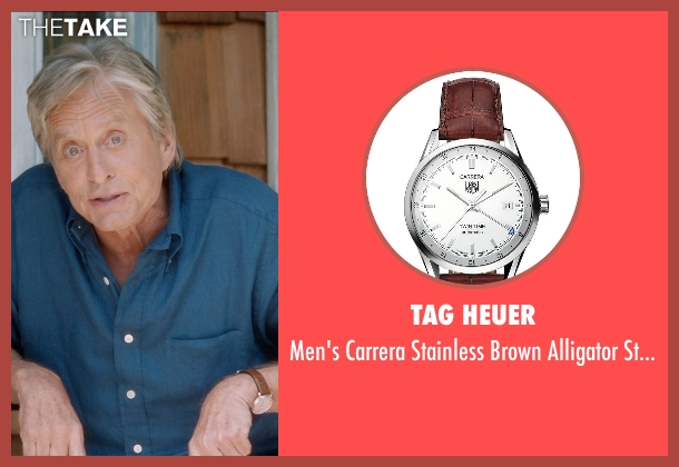 Tag Heuer brown watch from And So It Goes seen with Michael Douglas (Oren Little)
