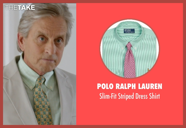 Polo Ralph Lauren green shirt from And So It Goes seen with Michael Douglas (Oren Little)