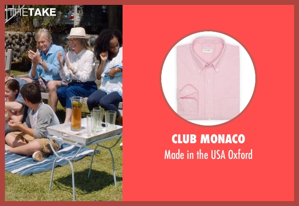 Club Monaco pink oxford from And So It Goes seen with Michael Douglas (Oren Little)