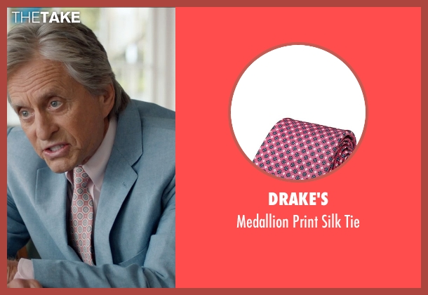 Drake's pink tie from And So It Goes seen with Michael Douglas (Oren Little)