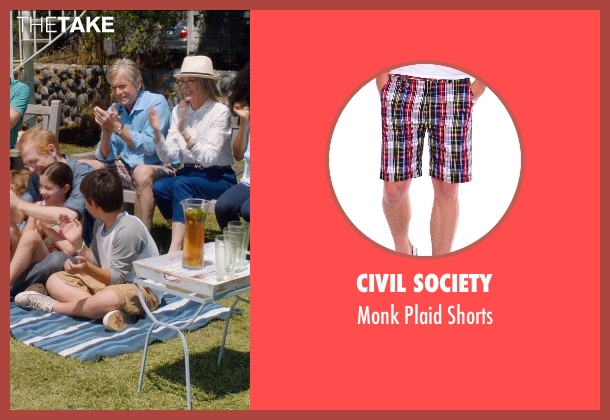 Civil Society red shorts from And So It Goes seen with Michael Douglas (Oren Little)