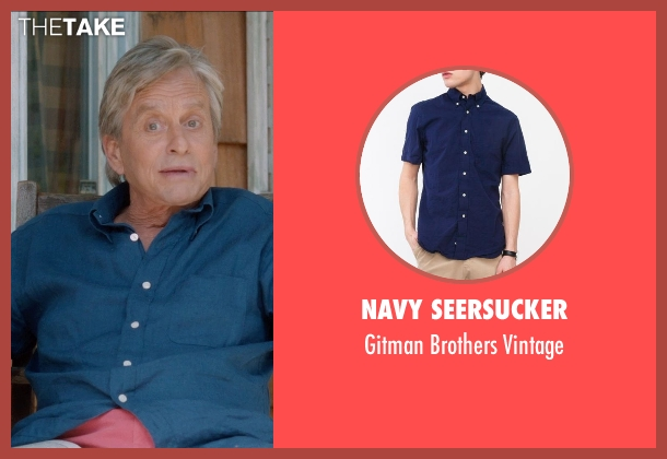Navy Seersucker vintage from And So It Goes seen with Michael Douglas (Oren Little)