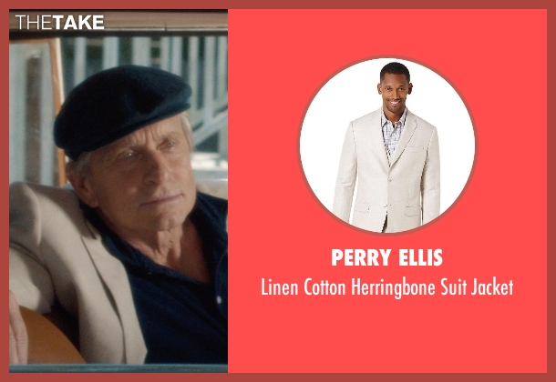 Perry Ellis white jacket from And So It Goes seen with Michael Douglas (Oren Little)