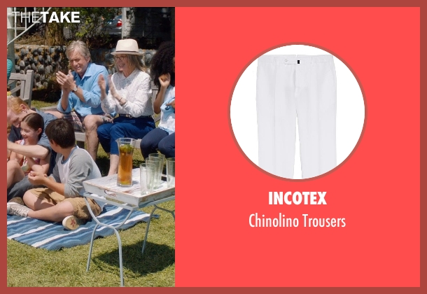 Incotex white trousers from And So It Goes seen with Michael Douglas (Oren Little)