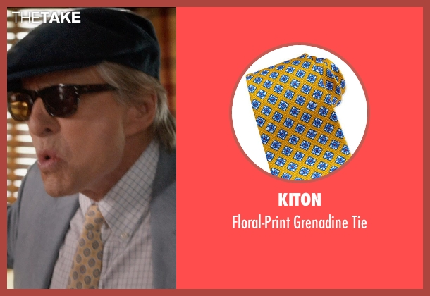 Kiton yellow tie from And So It Goes seen with Michael Douglas (Oren Little)