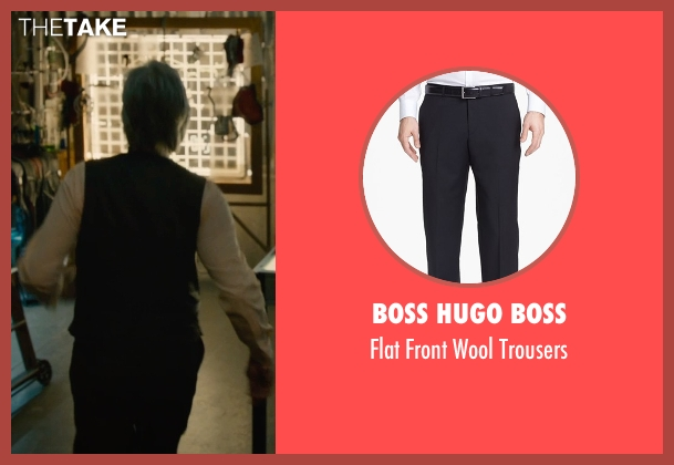 Boss Hugo Boss black trousers from Ant-Man seen with Michael Douglas (Hank Pym)