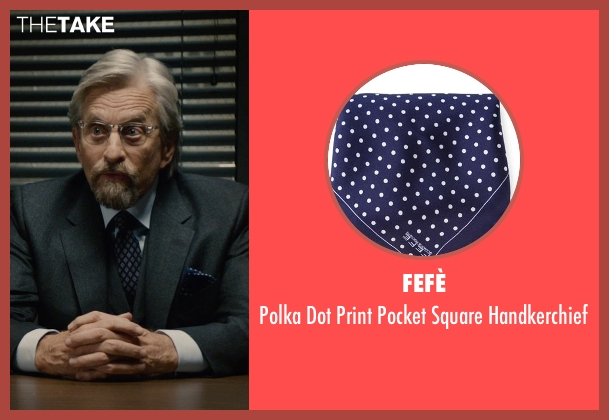 Fefè blue handkerchief from Ant-Man seen with Michael Douglas (Hank Pym)
