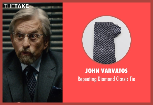 John Varvatos blue tie from Ant-Man seen with Michael Douglas (Hank Pym)