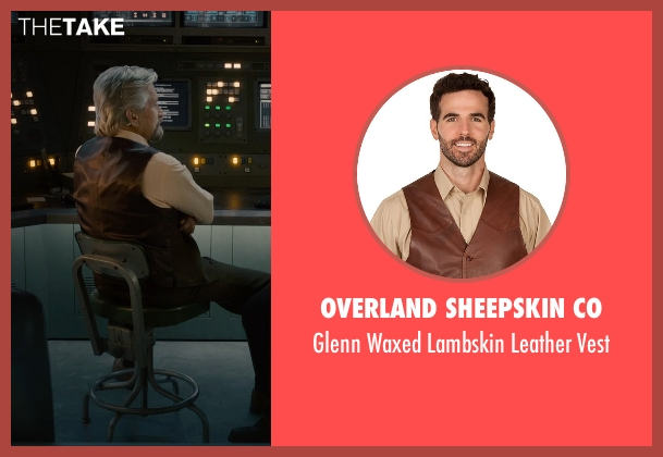 Overland Sheepskin Co brown vest from Ant-Man seen with Michael Douglas (Hank Pym)