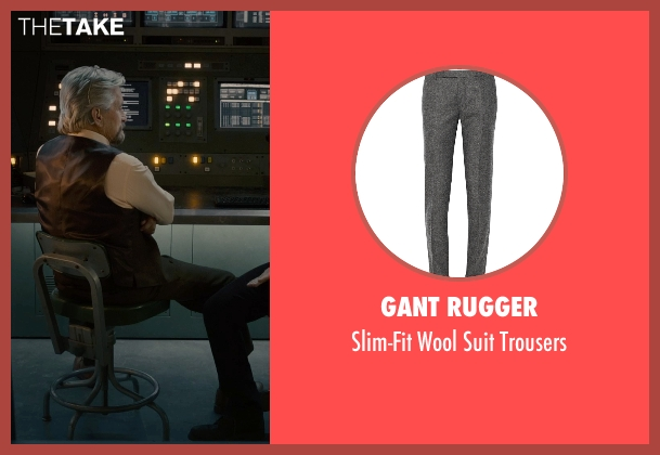 Gant Rugger gray trousers from Ant-Man seen with Michael Douglas (Hank Pym)