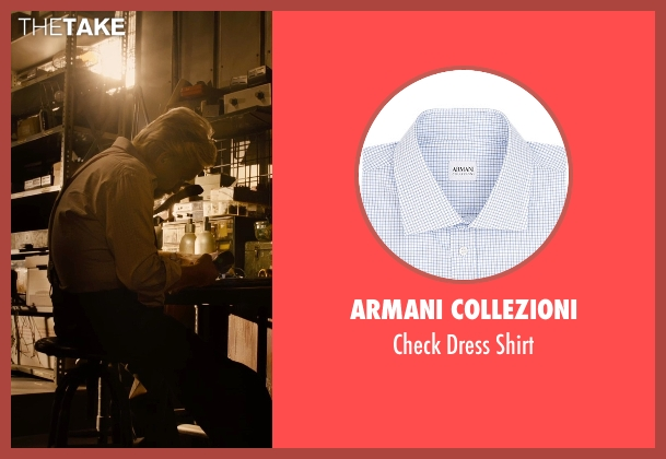 Armani Collezioni white shirt from Ant-Man seen with Michael Douglas (Hank Pym)