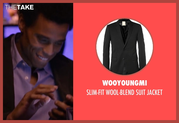 WOOYOUNGMI black jacket from About Last Night seen with Michael Ealy