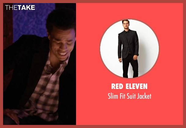 Red Eleven black jacket from About Last Night seen with Michael Ealy