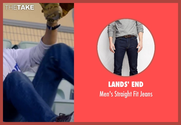 Lands' End blue jeans from About Last Night seen with Michael Ealy
