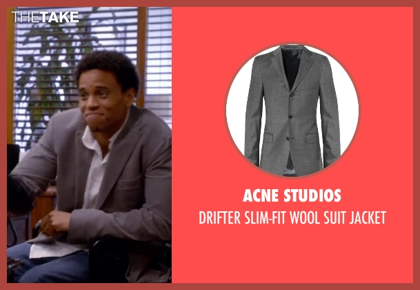 ACNE STUDIOS gray jacket from About Last Night seen with Michael Ealy
