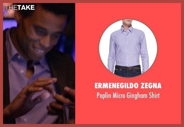 Ermenegildo Zegna purple shirt from About Last Night seen with Michael Ealy
