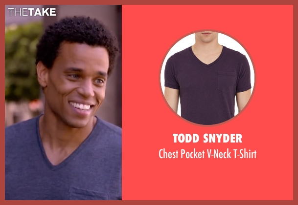 TODD SNYDER purple t-shirt from About Last Night seen with Michael Ealy