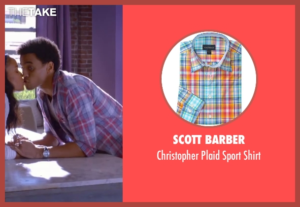 Scott Barber shirt from About Last Night seen with Michael Ealy