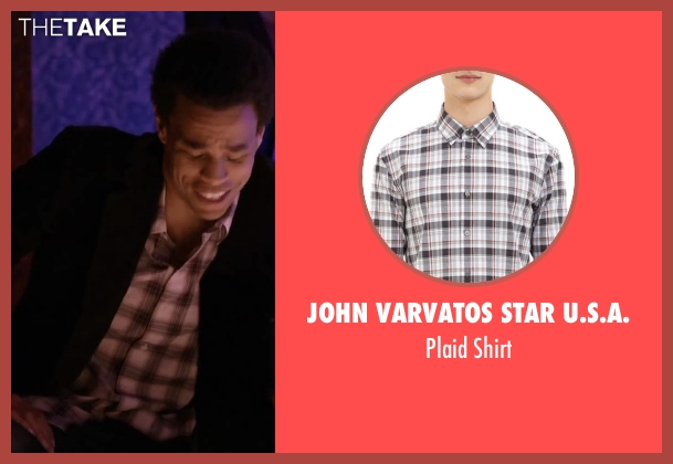 JOHN VARVATOS STAR U.S.A. white shirt from About Last Night seen with Michael Ealy