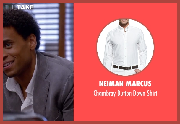 Neiman Marcus white shirt from About Last Night seen with Michael Ealy