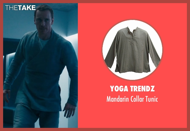 Yoga Trendz gray tunic from Assassin's Creed seen with Michael Fassbender (Callum Lynch / Aguilar)