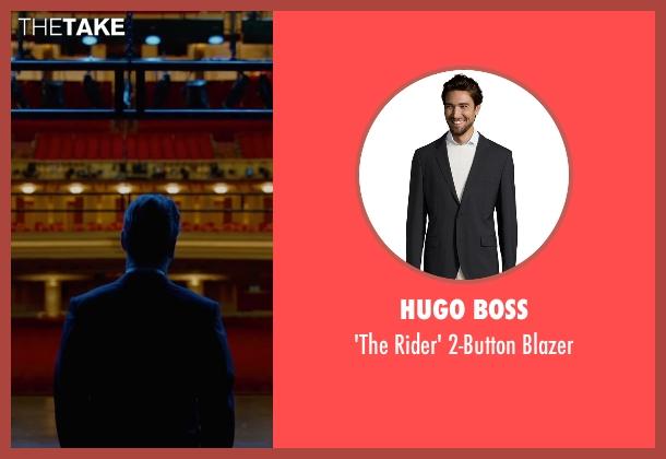 Hugo Boss black blazer from Steve Jobs seen with Michael Fassbender (Steve Jobs)