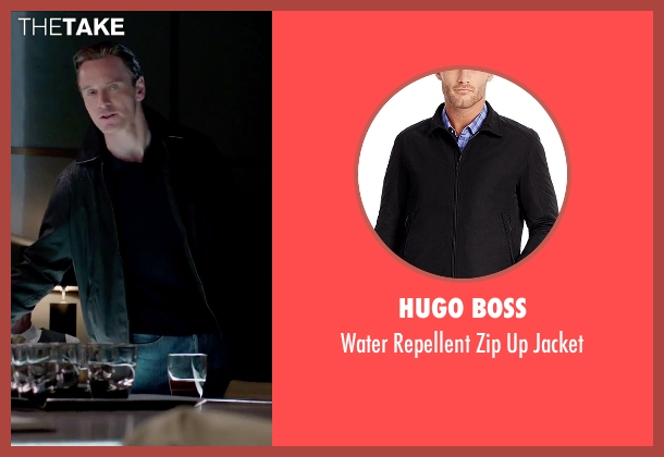 Hugo Boss black jacket from Steve Jobs seen with Michael Fassbender (Steve Jobs)