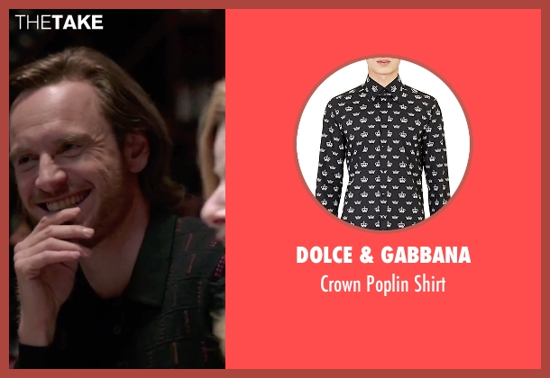 Dolce & Gabbana black shirt from Steve Jobs seen with Michael Fassbender (Steve Jobs)