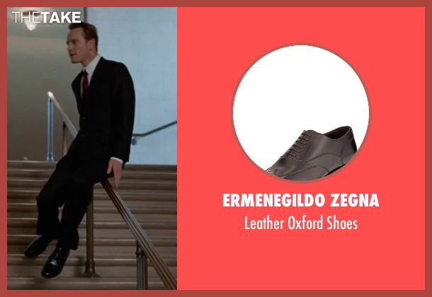 Ermenegildo Zegna black shoes from Steve Jobs seen with Michael Fassbender (Steve Jobs)