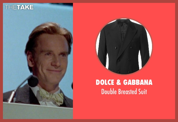 Dolce & Gabbana black suit from Steve Jobs seen with Michael Fassbender (Steve Jobs)