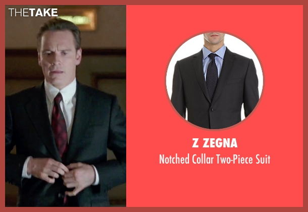 Z Zegna black suit from Steve Jobs seen with Michael Fassbender (Steve Jobs)