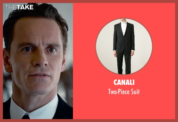 Canali black suit from Steve Jobs seen with Michael Fassbender (Steve Jobs)