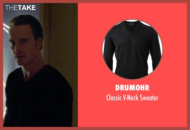 Drumohr black sweater from Steve Jobs seen with Michael Fassbender (Steve Jobs)
