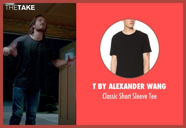 T by Alexander Wang black tee from Steve Jobs seen with Michael Fassbender (Steve Jobs)