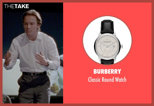 Burberry black watch from Steve Jobs seen with Michael Fassbender (Steve Jobs)