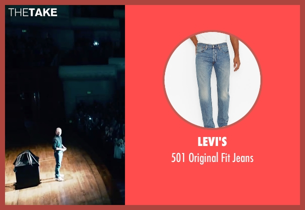 Levi's blue jeans from Steve Jobs seen with Michael Fassbender (Steve Jobs)
