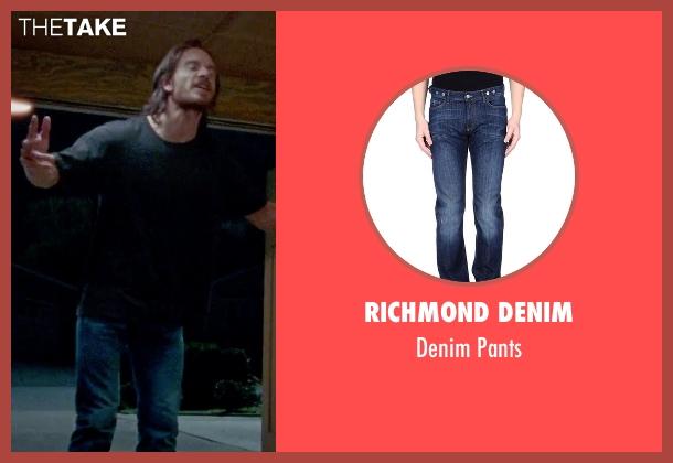 Richmond Denim blue pants from Steve Jobs seen with Michael Fassbender (Steve Jobs)