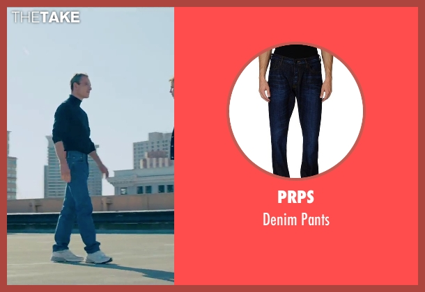 Prps blue pants from Steve Jobs seen with Michael Fassbender (Steve Jobs)