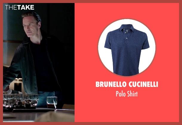 Brunello Cucinelli blue shirt from Steve Jobs seen with Michael Fassbender (Steve Jobs)
