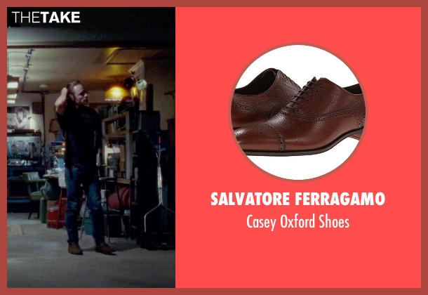 Salvatore Ferragamo brown shoes from Steve Jobs seen with Michael Fassbender (Steve Jobs)