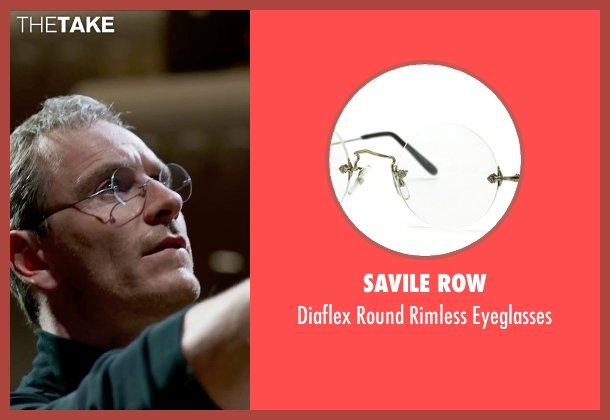 Savile Row eyeglasses from Steve Jobs seen with Michael Fassbender (Steve Jobs)