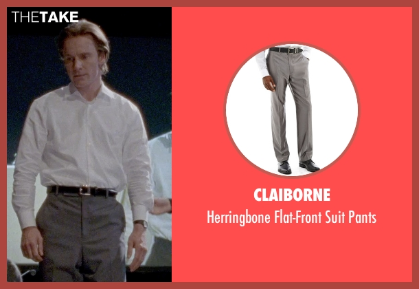 Claiborne gray pants from Steve Jobs seen with Michael Fassbender (Steve Jobs)