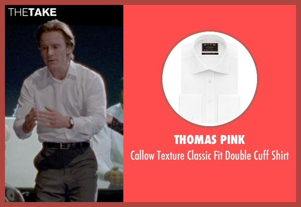 Thomas Pink white shirt from Steve Jobs seen with Michael Fassbender (Steve Jobs)