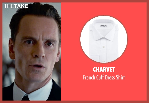 Charvet white shirt from Steve Jobs seen with Michael Fassbender (Steve Jobs)
