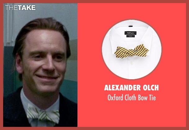 Alexander Olch yellow tie from Steve Jobs seen with Michael Fassbender (Steve Jobs)